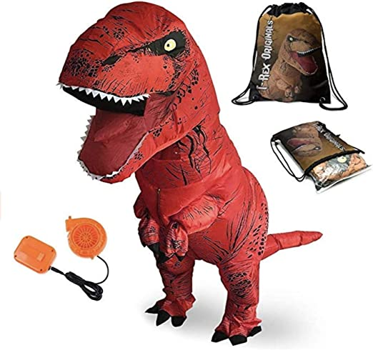Amazon.com: T-Rex Disfraz de dinosaurio exclusivo inflable ...