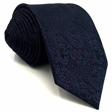 SHLAX&WING Corbatas Para Hombre Color Sólido Azul Cachemir Traje ...