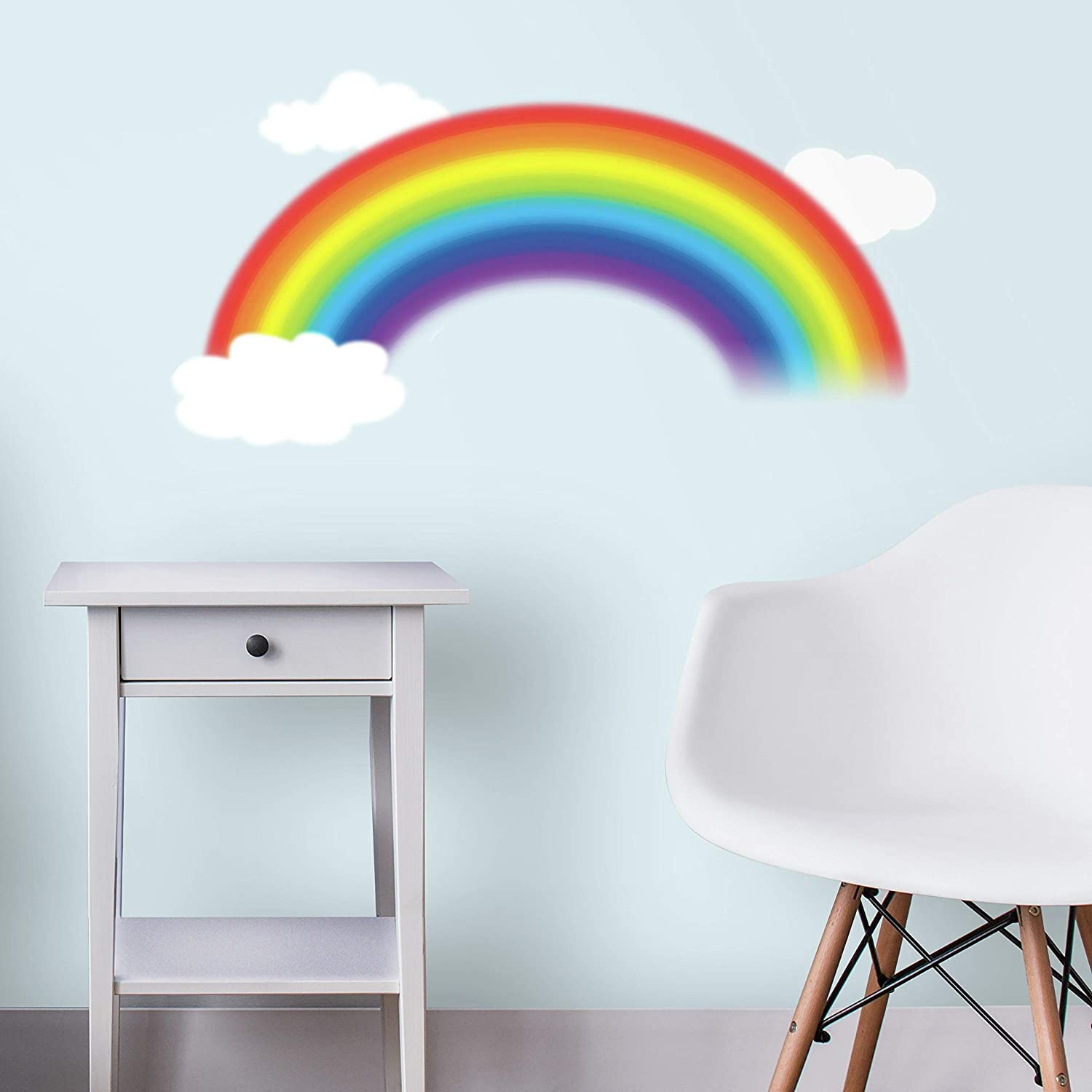 Roommates Rmk1629gm Over The Rainbow Peel And Stick Giant Wall Decal Multicolor
