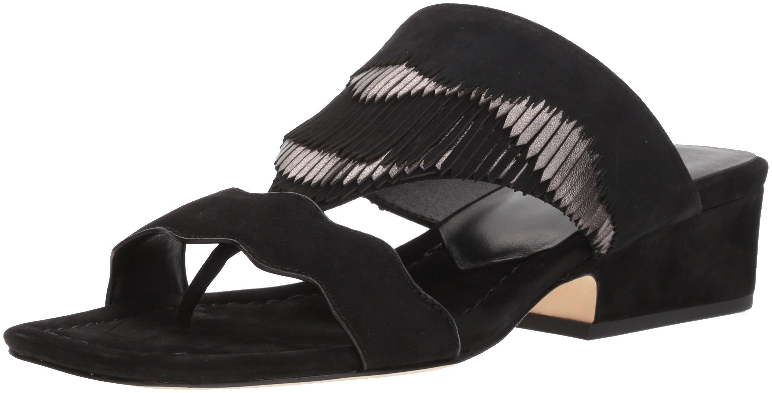 Donald J Pliner Women's Darcie Slide Sandal, Black, 6.5 Medium US