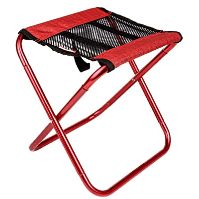 TRIWONDER Portable Camping Stool Outdoor Folding Camping Chair for Backpacking Hiking Fishing Travel Garden BBQ with Carrying Sack (Red) : Sports & Outdoors