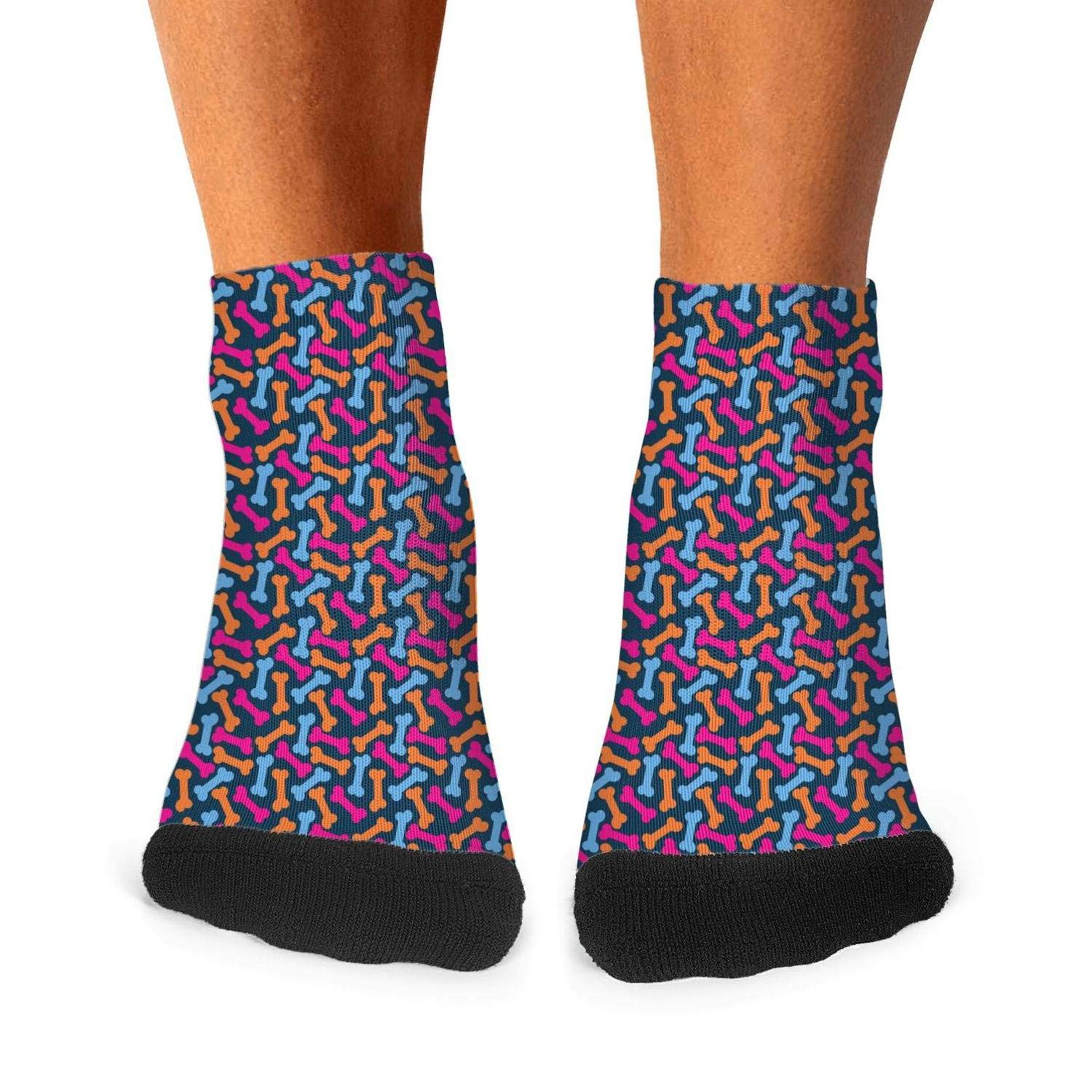 Socks Boot Athletic Compression Value Men dogs-and-bone-chrysanthemum-pattern