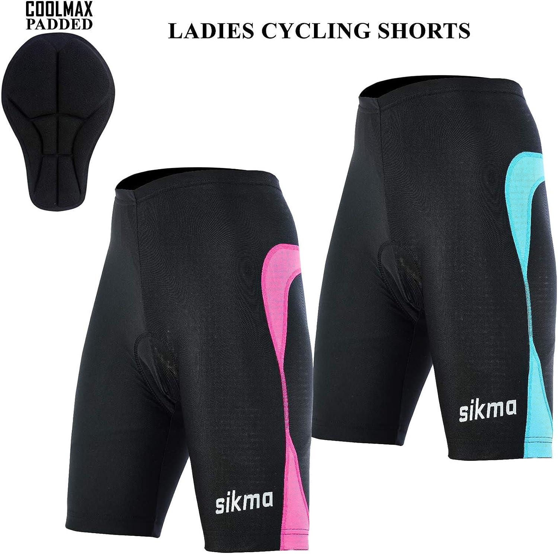 Damen Radhose 3//4 Shorts gepolstert Damen Leggings Cool Max Anti Bac Pad