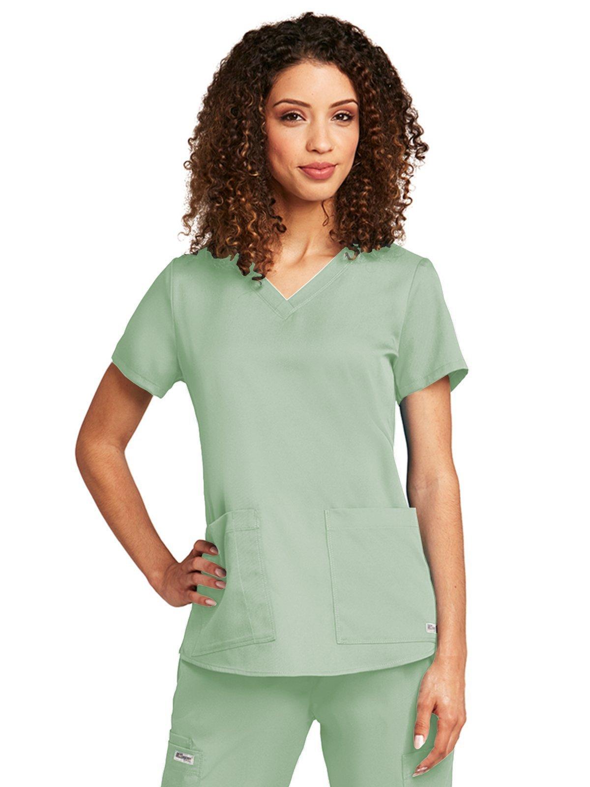 Grey's Anatomy 71166 V-Neck Top Pistachio 4XL