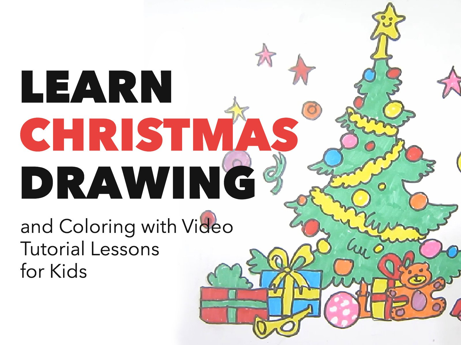 Amazon Com Watch Learn Christmas Drawing And Coloring With Video