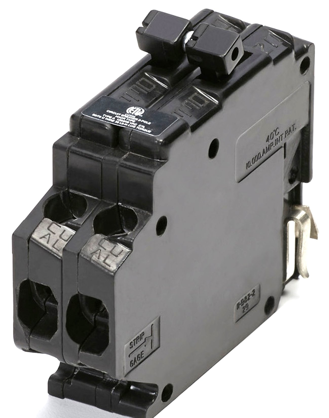 UBITBA230-New Challenger MH230 Type A Replacement. Two Pole 30 Amp Clip Circuit Breaker Manufactured by Connecticut Electric.