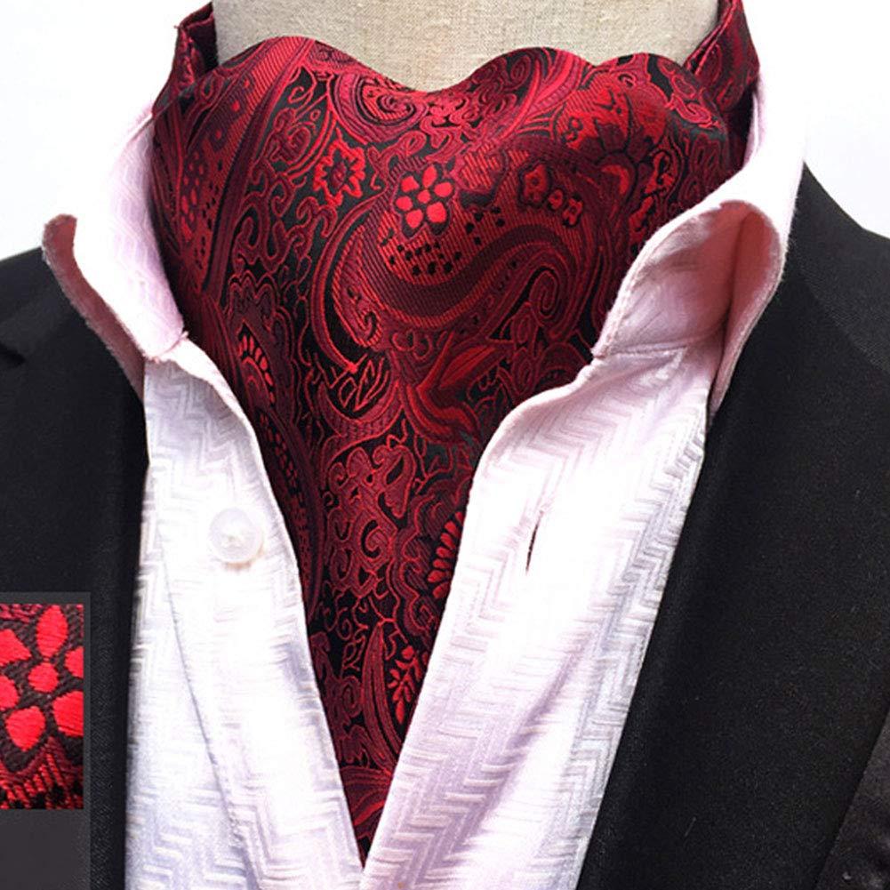 15.5 cm Foulard da Uomo Ascot Cravatta Seta Tessuto in Seta Matrimonio Business Jacquard in Poliestere Ufficiale Regalo 117