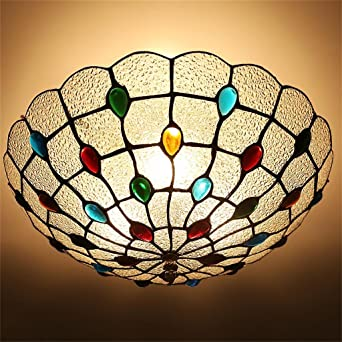 Shopping Kreative Retro Circular Decke Aus Glas Lampe Schlafzimmer