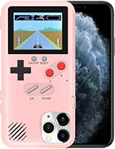 YLANK Gameboy Case for iPhone, Retro 3D Gameboy Design Style Silicone Cover Case with 36 Classic Retro Games,Color Screen Game Cover Case for iPhone 11 6.1inch (Pink, iPhone 11)