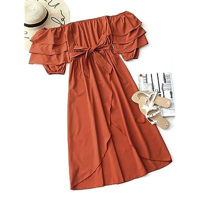 7TECH wrapped chest strapless irregular long dress beach dress