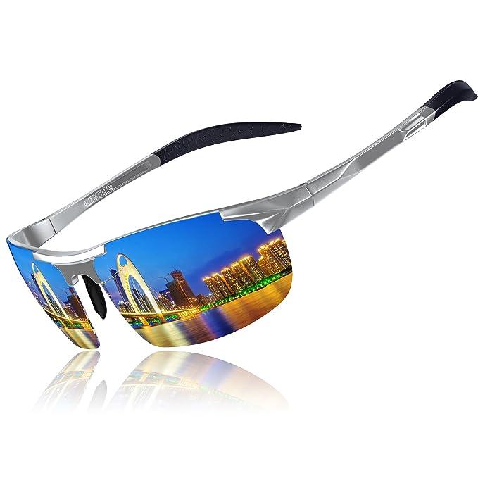 KITHDIA Hombre Gafas De Sol Deportes Polarized Súper Ligero Al-Mg Marco De Metal: Amazon.es: Ropa y accesorios