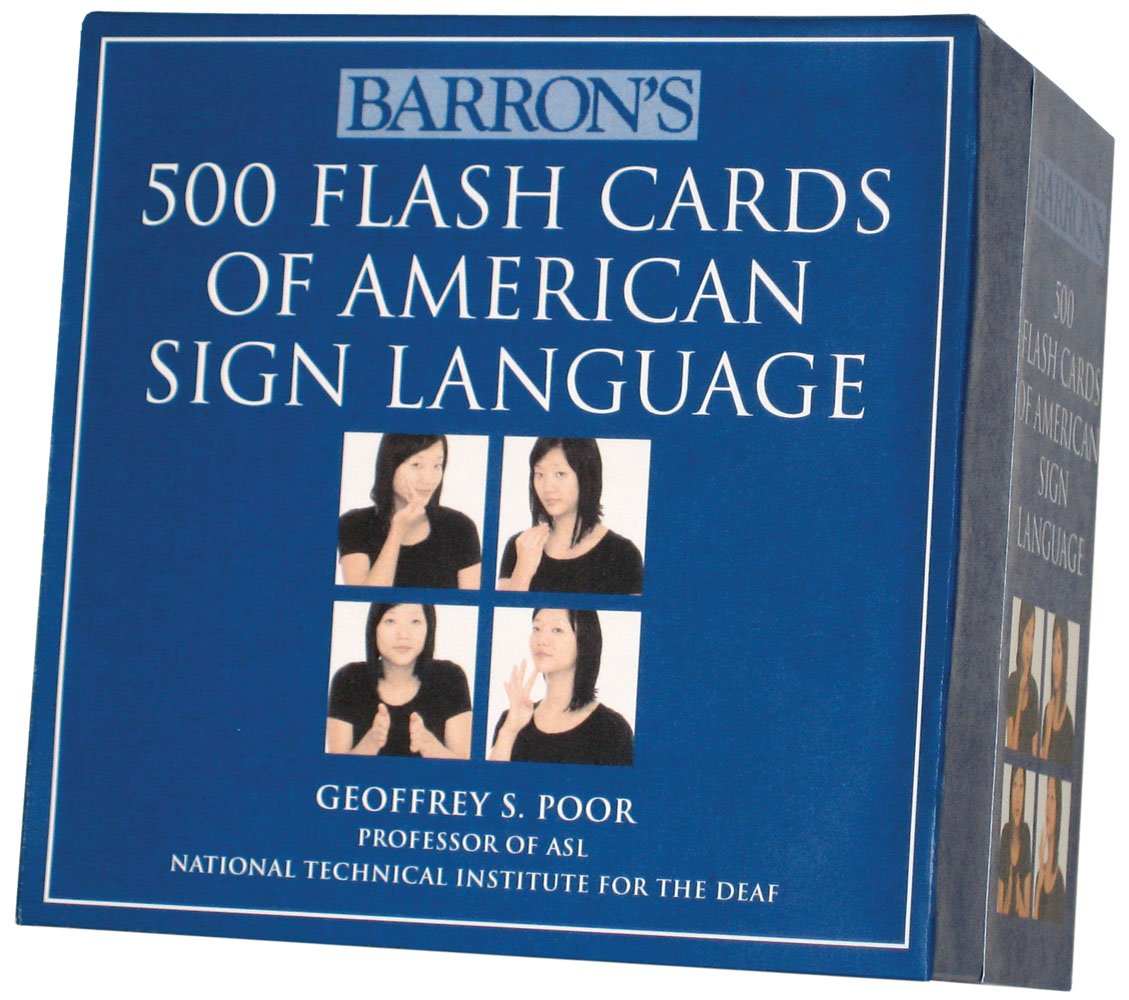 Barrons 500 flash cards of american sign language geoffrey s barrons 500 flash cards of american sign language geoffrey s poor 9780764162220 books amazon kristyandbryce Choice Image