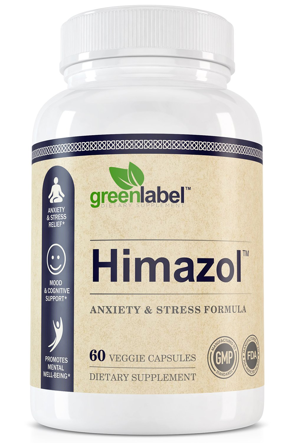Himazol, Anxiety Relief And Stress Supplement. 60 Capsules. by GREEN LABEL DIETARY SUPPLEMENT (Image #1)