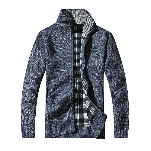 zarupeng Chaqueta Punto Hombre,Hombre Cárdigan Chaquetas De Punto Suéter Cárdigan Capa Chaqueta Sweater Coat: Amazon.es: Zapatos y complementos