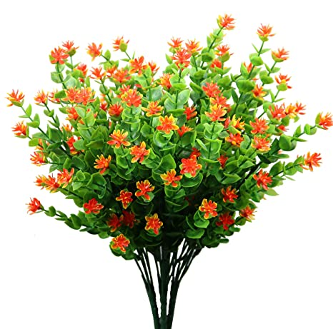 Artificial Plant Flowers Garden Realistic Plants Fake Outdoor Decor 30cm UK Fast