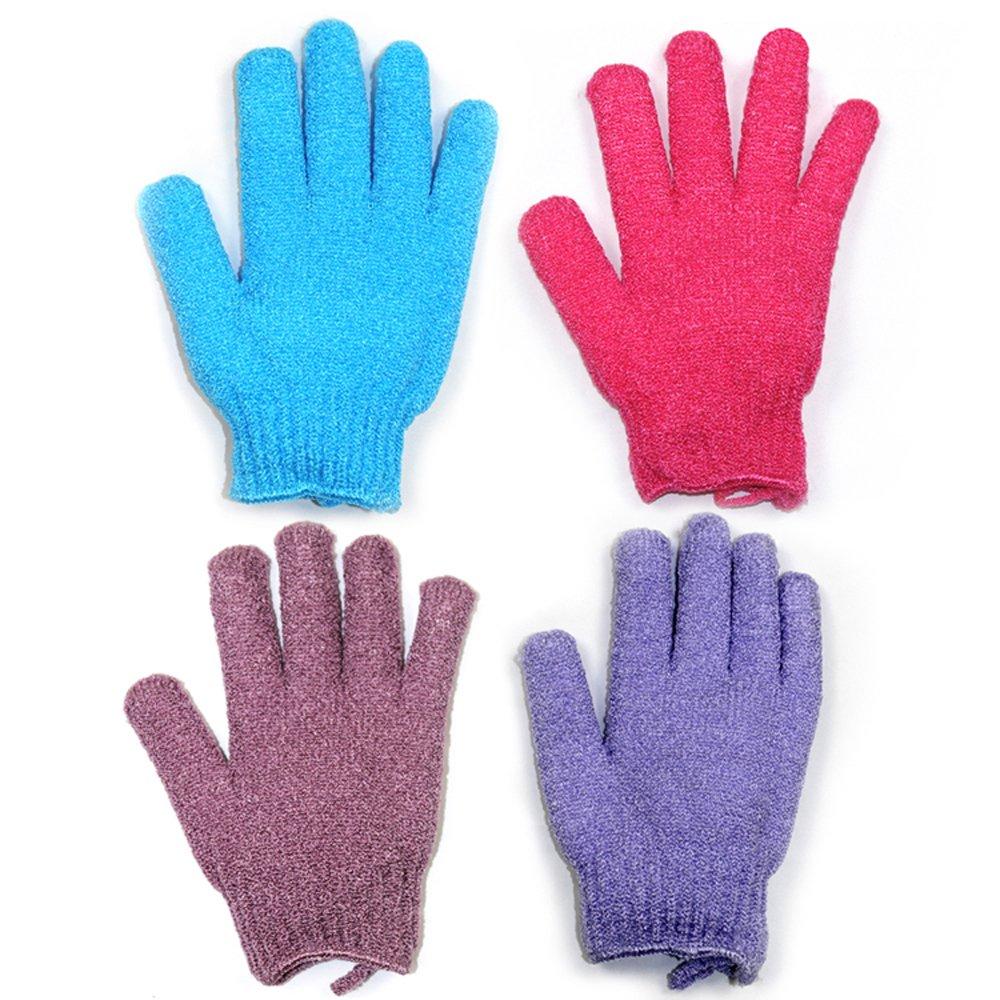 Bath Gloves 2 Pairs Body Spa Gloves Dead Skin Cell Remover Scheam Exfoliating Gloves Shower Massage Scrubb Blue /& Green