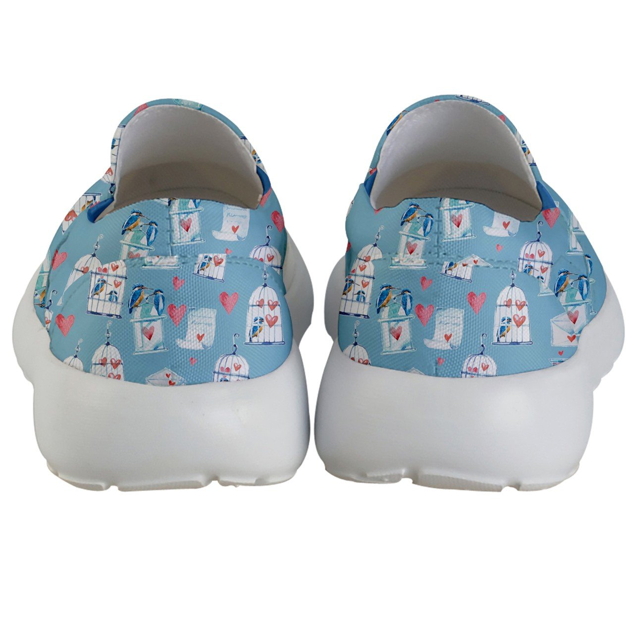 PattyCandy Kids & Toddlers Slip On Love Bird & Cage Lightweight Shoes-US 5.5Y by PattyCandy (Image #4)