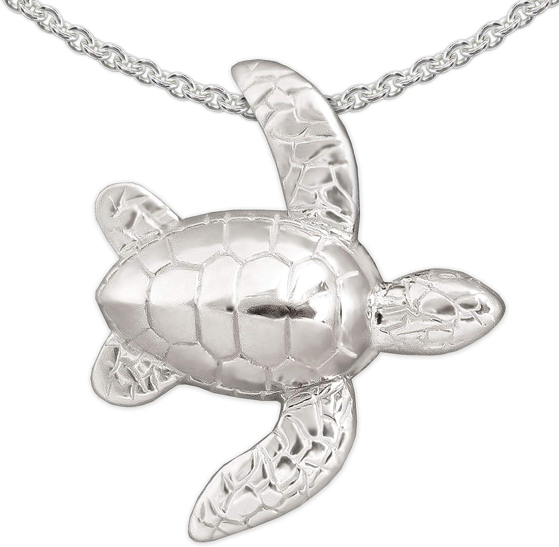 CLEVER SCHMUCK Pendentif tortue 15/x 7/mm palpable firg/ürliche forme des 2/C/ôt/és lautre Mat en or 333/diamant/é 8/cts dans un /étui un c/ôt/é brillant