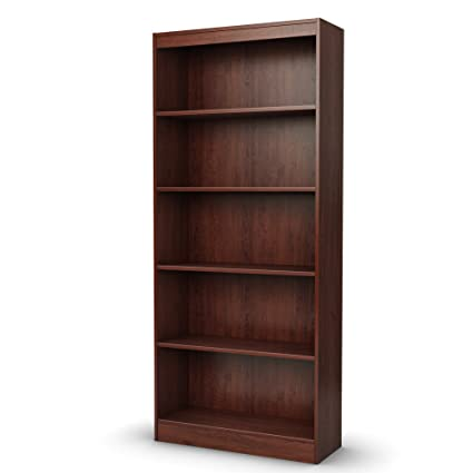 Delicieux South Shore 5 Shelf Storage Bookcase, Royal Cherry