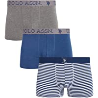 U.S. Polo Assn. Men's Cotton Stretch Trunk Underwear with Comfort Pouch (3 Pack)