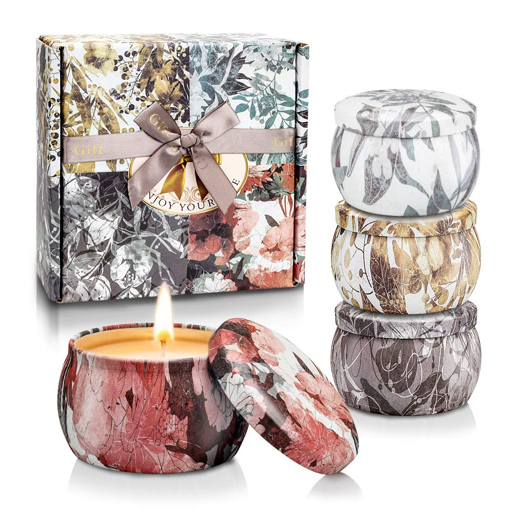 YINUO LIGHT Scented Candles Gifts Set for Women Aromatherapy Candles Stress Relief, Upgraded Large Tin of Soy Candle Scented Lavender Candle, Gifts for Women Birthday Gifts by YINUO LIGHT