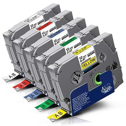 Labelwell 12mm Compatible para Brother Tz231 Tz431 Tz531 Tz631 ...