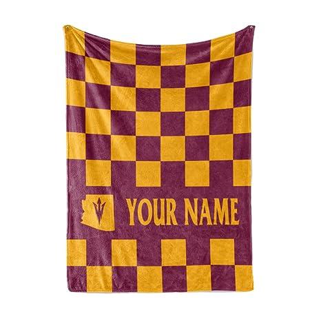 Custom Arizona State University Themed Fleece Throw Blanket - Personalized  Fluffy ASU Sun Devils Mens Womens 4e332ecc17