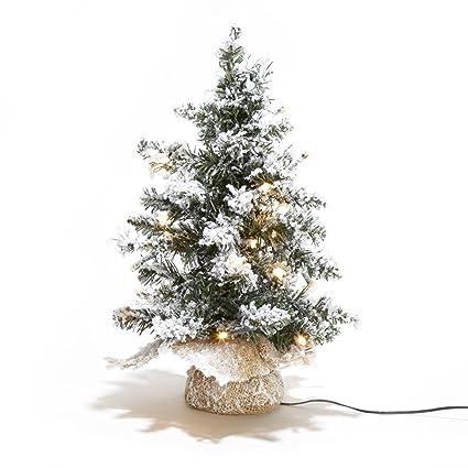 lamplust 12 pre lit flocked christmas tree with warm white leds indoor use - White Flocked Christmas Trees