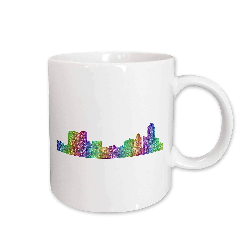 multicolor line art 11oz Two-Tone Black Mug Memphis City Skyline City Skylines mug/_287212/_4 3dRose David Zydd
