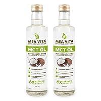 MeaVita MCT Öl, 1 Liter Extrakt aus der Kokosnuss, Geschmacksneutral (2 x 500ml) Low Carb