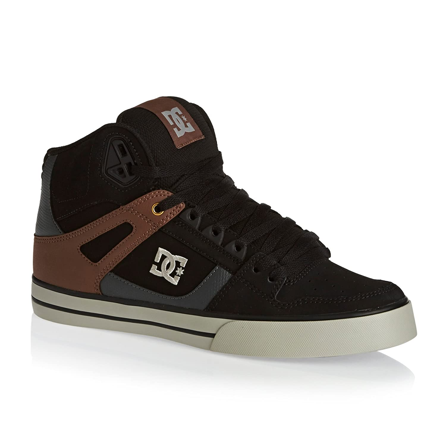 DC SPARTAN HIGH WC Unisex-Erwachsene Hohe Sneakers  10.5|Black/Tan