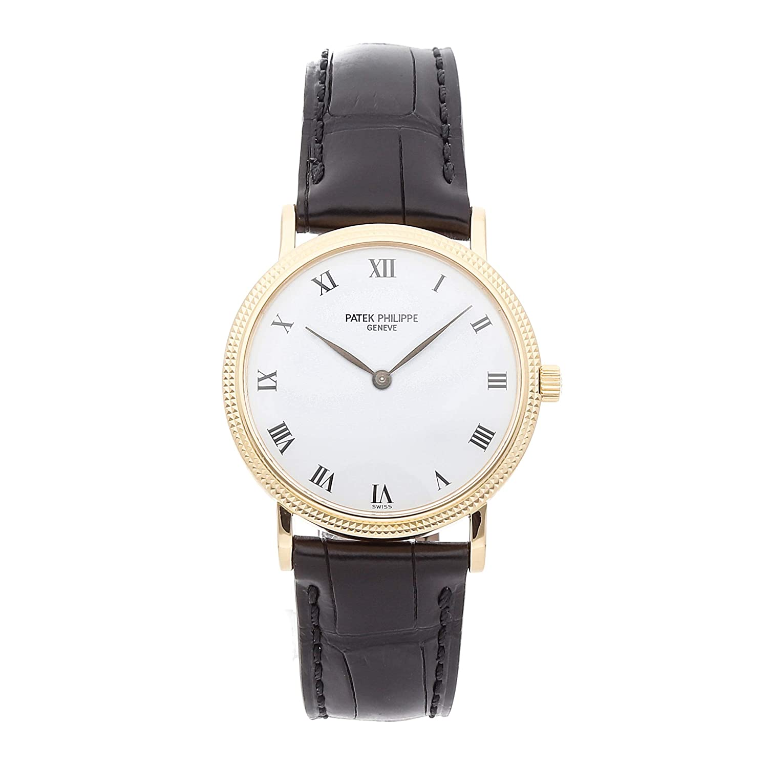 Patek Philippe Calatrava Mechanical (Automatic) White Dial Mens Watch (Certified Pre-Owned)
