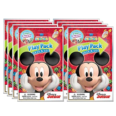 up4 Mickey Grab N Go Play Pack 8.50x5.25x0.5 [Contains 8 Retail (S) Per SKU# 1051224, Multicolor: Toys & Games