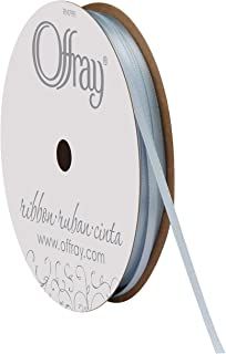 "product image for Offray 1/8"" Wide Double Face Satin Ribbon, 30 Yards, Light Blue"