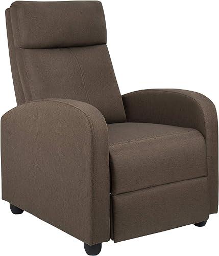 JUMMICO Fabric Recliner Chair Adjustable Home Theater Single Recliner Sofa Furniture