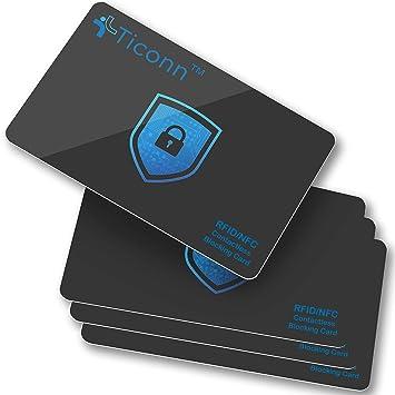 Amazon.com: TICONN RFID Tarjetas de bloqueo (4 unidades ...