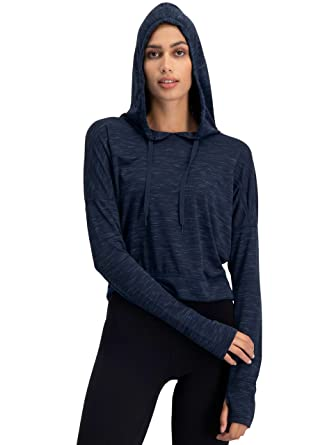 Clothing, Shoes & Accessories Mens Cowl Neck Long Sleeve Hoodie Running Training Sports Hooded Top Thumb Holes