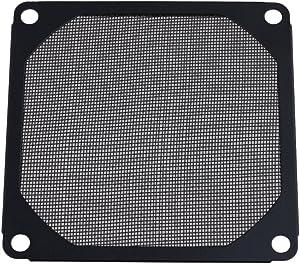 BQLZR Black 80 X 80mm PC Computer Chassis Fan Dustproof Filter Mesh Metal Strainer