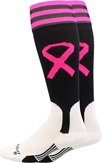 Baseball Softball Pink Stirrups Socks