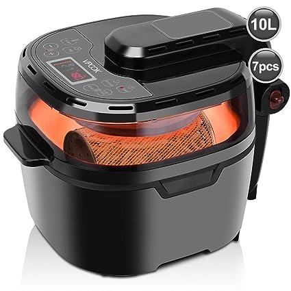VPCOK 8 en 1 Freidora Sin Aceite Inteligente, XXXXL, 5-8 Personas, Multifuncional Air Fryer de Gran Capacidad, Freidora de Aire, Cocina Visual, ...