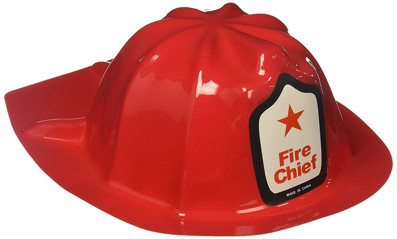 Kids Pretend Play Fireman Hat   Red Fireman Hat for Children   Pack of 24
