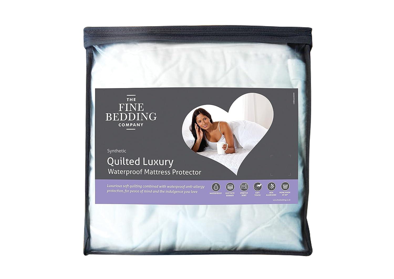 Fine Parure de lit Company non allergène matelassé de luxe Protège-matelas imperméable–King size