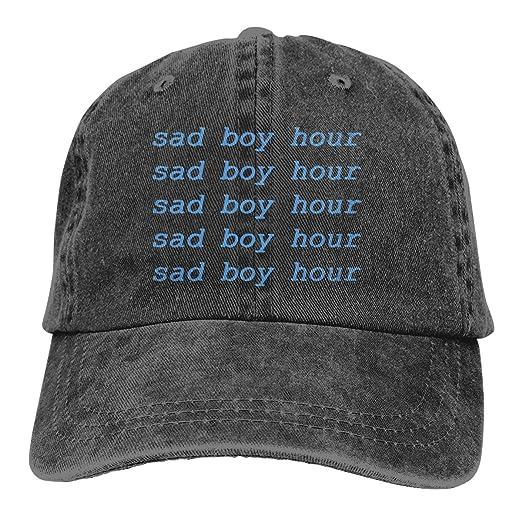 59e615a753c2c Sad Boy Hour Adult Dad Hat Baseball Hat Vintage Washed Distressed Cap Black