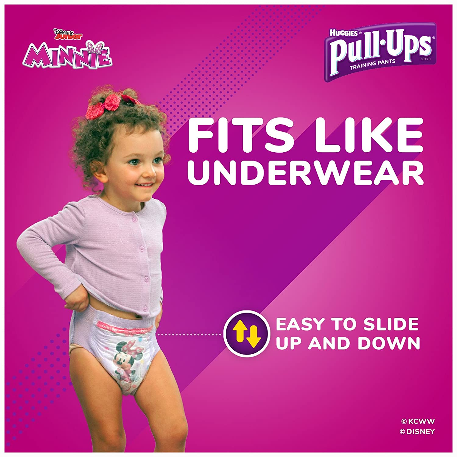 Amazon.com: Pull-Ups Learning Designs Training Pants for Girls, 3T-4T  (32-40 lbs.), 66 Count, Toddler Potty Training Underwear, Packaging May  Vary: Health ...