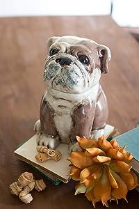 KALALOU Ceramic Bull Dog Canister, One Size, Multicolor