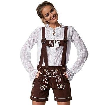 dressforfun 900801 - Pantalones tiroleses para Mujer, Finos y ...