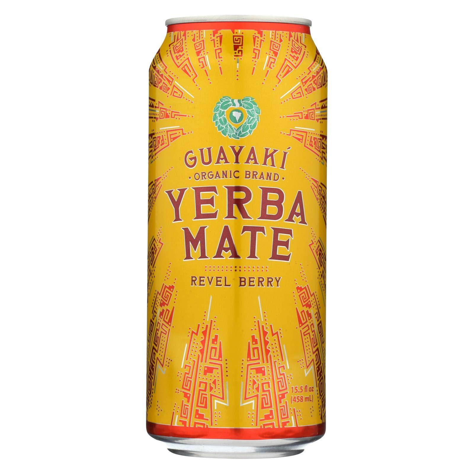 Guayaki Yerba Mate - Revel Berry - Case of 12 - 15.5 Fl oz. by Guayaki