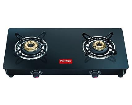 buy prestige marvel glass 2 burner gas stove black online at low