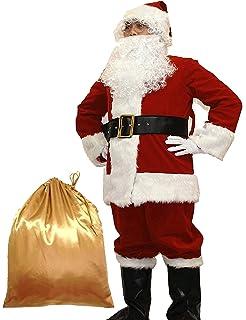 Amazon.com: Rubies Adult Deluxe Ultra Velvet Santa Suit ...