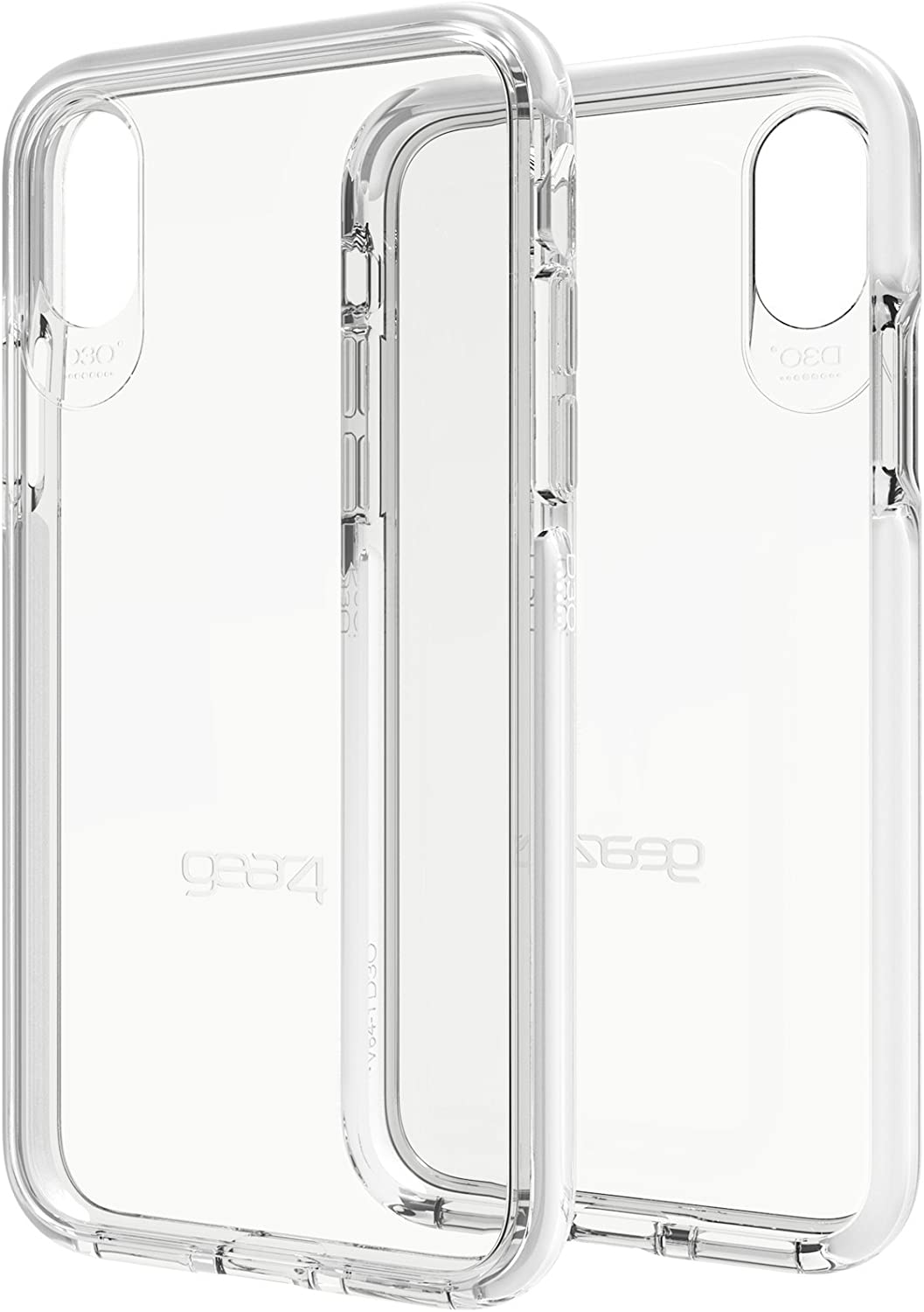Gear4 Piccadilly Clear Case with Advanced Impact Protection [ Protected by D3O ], Compatible with iPhone X/iPhone Xs – White